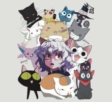 Anime cats pitou luna yoruichi espeon sakamoto kamineko chi poyo madara happy blair kirara kyubey kuroneko by ToDum2Lov3