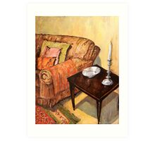 A Corner of my Lounge Art Print