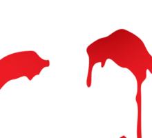 Red John smiley symbol Sticker
