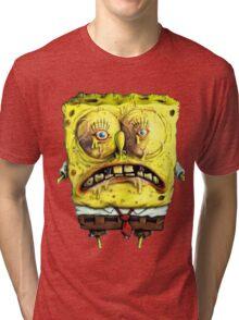 Close up Spongebob Tri-blend T-Shirt