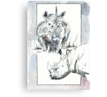 Rhino Study - The Unpardonable Crime Canvas Print
