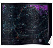 USGS Topo Map Washington State WA Ritzville 243472 1953 250000 Inverted Poster