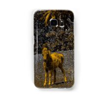 Abstract foal in gold and black Samsung Galaxy Case/Skin