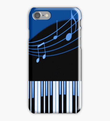 Black & Blue Musical Melody iPhone Case/Skin
