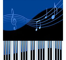 Black & Blue Musical Melody Photographic Print