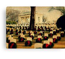 Christmas time at the federal cemetery - Marietta, Ga Canvas Print