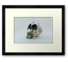 A glamorous painted skull  Framed Print