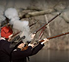 Muskets Firing by DAVID  SWIFT