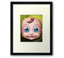 Baby Doll Head... Framed Print