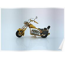 A toy vintage motorbike  Poster