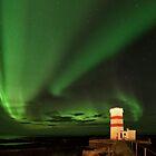 The Green Lights of Gardur Lighthouse by Kristin Repsher
