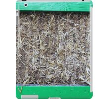 Hay in a green wooden container iPad Case/Skin