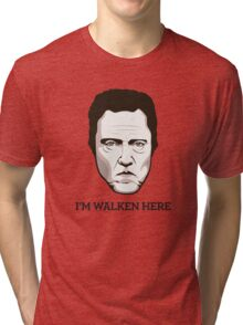 "Christopher Walken - ""Walken Here"" T-Shirt Tri-blend T-Shirt"