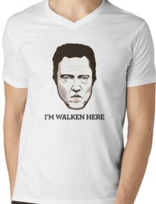 "Christopher Walken - ""Walken Here"" T-Shirt Mens V-Neck T-Shirt"