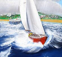Perfect Sailing Day - IPhone Case by Rob Beilby