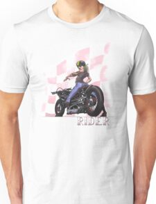 Rider...Lady and her Motorcycle Unisex T-Shirt