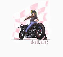 Rider...Lady and her Motorcycle Women's Fitted V-Neck T-Shirt