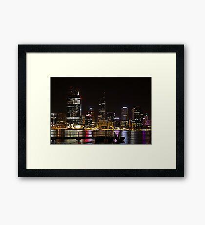 Nightscape - Perth, Western Australia Framed Print