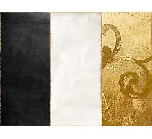 Fashion Gold and Black Flag France Photographic Print