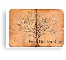 Five Golden Rings Canvas Print