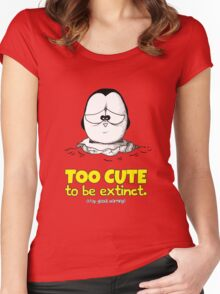 Too Cute To Be Extinct v.1 Women's Fitted Scoop T-Shirt
