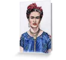Hommage to Frida Kahlo Greeting Card