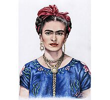 Hommage to Frida Kahlo Photographic Print