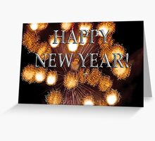 golden explosions, happy new year Greeting Card