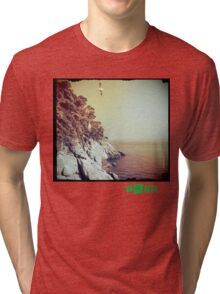 Free - T.shirt green caption Tri-blend T-Shirt