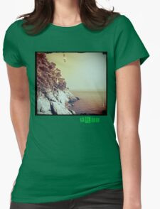 Free - T.shirt green caption Womens Fitted T-Shirt