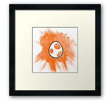 Orange Yoshi Egg Framed Print