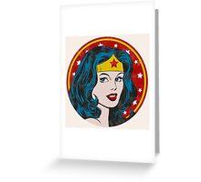 Princess Diana of Themyscira (Vintage) Greeting Card