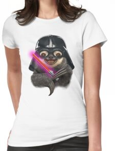 DARTH SLOTH Womens Fitted T-Shirt