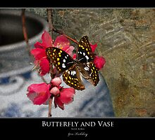Butterfly and Vase by Gene Tewksbury