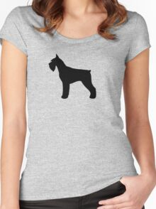 Giant Schnauzer Silhouette(s) Women's Fitted Scoop T-Shirt