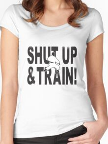 Shut Up & Train! Women's Fitted Scoop T-Shirt
