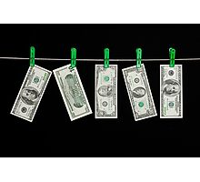 Laundered Money Photographic Print