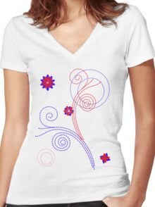 colourful  Women's Fitted V-Neck T-Shirt