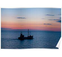 Trawler on the Sunrise Poster