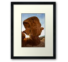 Faces in the rocks Framed Print
