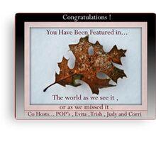 Oak leaf group banner,banner  Canvas Print