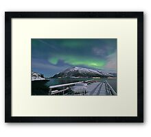 North Light over the pier Framed Print