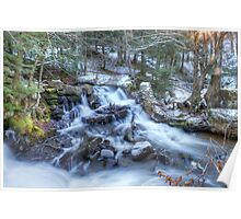 Carbide Ruins waterfalls - Gatineau Parc - Quebec, Canada Poster