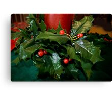 The Holly and The Berries Canvas Print
