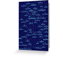 Sci-fi star map Greeting Card