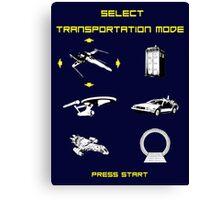 Sci-fi Transportation 2 Canvas Print