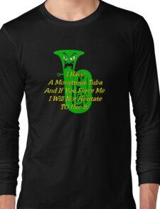 Funny Green Monstrous Tuba Long Sleeve T-Shirt