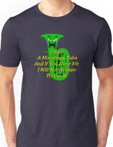 Funny Green Monstrous Tuba Unisex T-Shirt