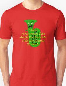 Funny Green Monstrous Tuba T-Shirt