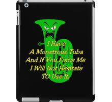Funny Green Monstrous Tuba iPad Case/Skin